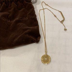 MK gold pendant necklace